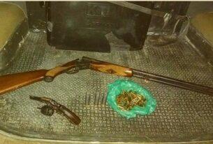 Armas apreendidas pela PM em Suzano