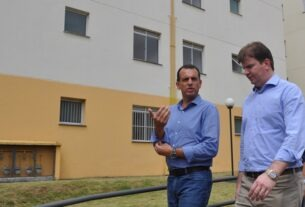 Deputado Marco Bertaiolli e o ministro Gustavo Canuto
