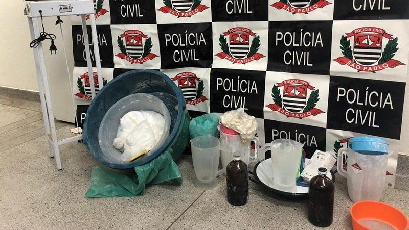 Cocaína apreendida em Ferraz de Vasconcelos