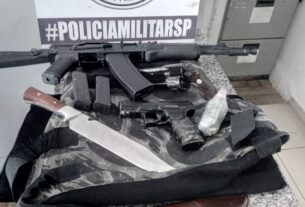 Armas apreendidas pela PM SP em Mogi das Cruzes