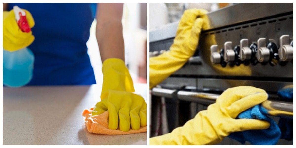 Auxiliar de limpeza e auxiliar de cozinha