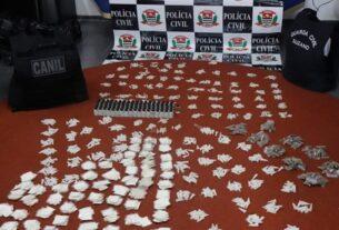 Drogas apreendidas em Suzano