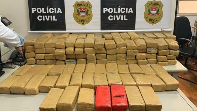Drogas apreendidas em Santa Isabel