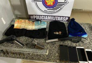 Armas apreendidas pela PM em Mogi