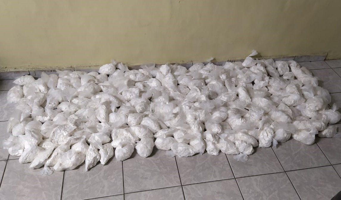 Cocaína apreendida em Suzano