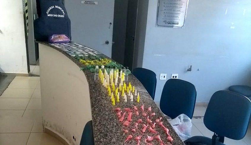 Drogas apreendidas na Vila Natal