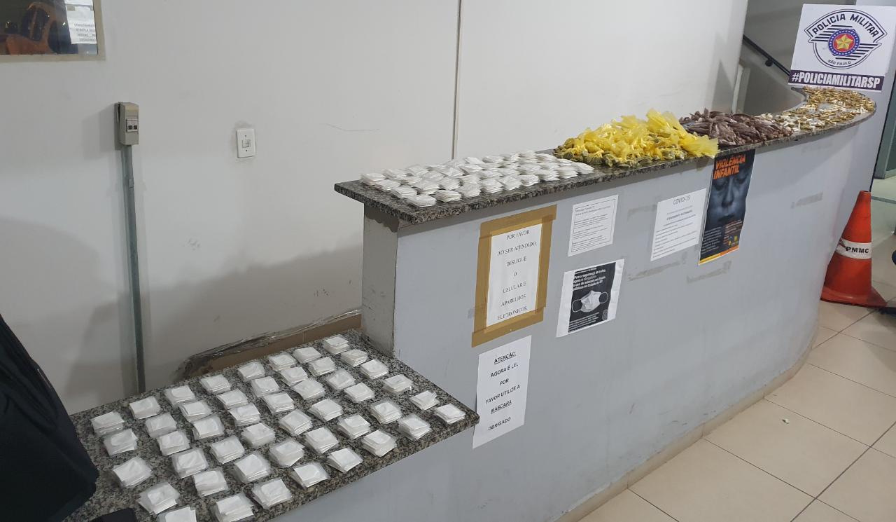 Drogas apreendidas pela PM SP em Mogi