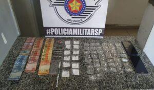 Drogas apreendidas pela PM em Mogi