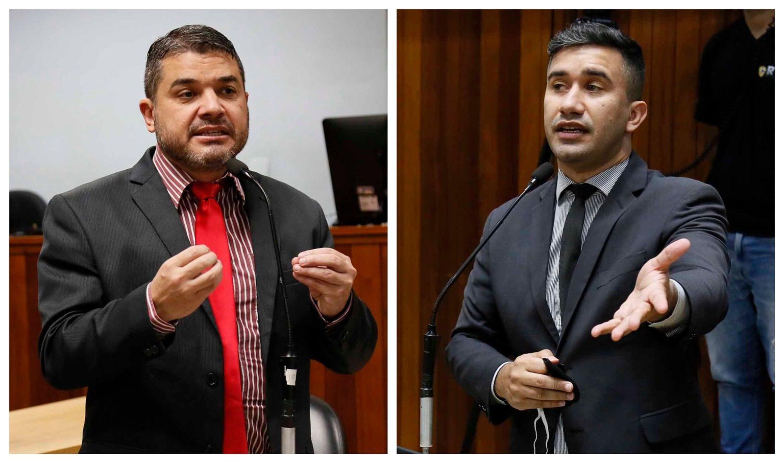 Vereadores Rodrigo Valverde e Caio Cunha