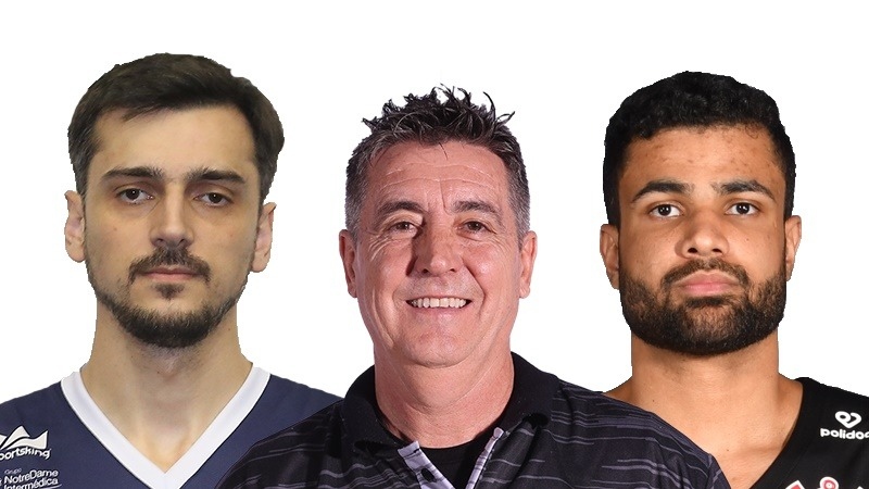 Gruber, Guerrinha e Wesley Castro